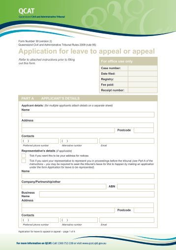 what is application for leave to appeal