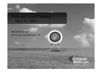 Wills and Estate Planning May 31, 2011 - Stewart McKelvey