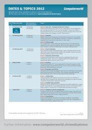 Dates & topics 2012 - IDG Communications