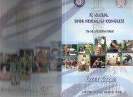 Poster Sunu Özeti - Spor Bilim