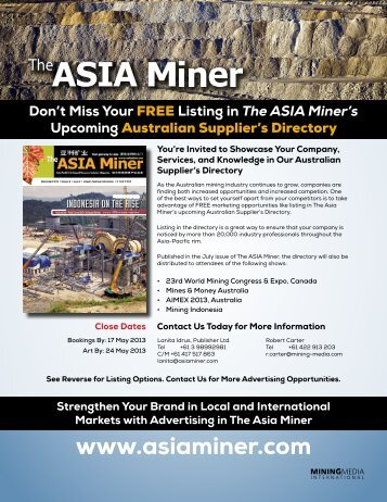 The ASIA Miner's