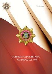 AASTARAAMAT 2008 TULEOHUTUSJÄRELEVALVE - Päästeamet