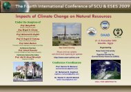 Conference Coordinators Under the Auspices of - Science ...