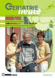Service-Magazin der Geriatrischen Gesundheitszentren