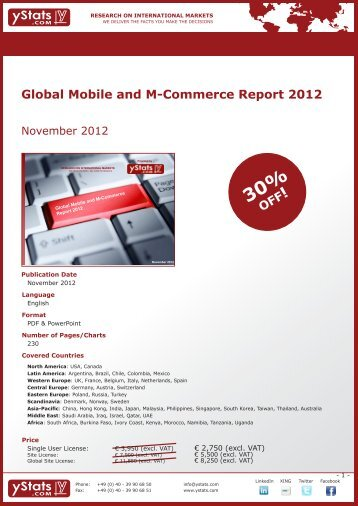 Global Mobile and M-Commerce Report 2012 - yStats.com