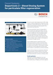 Datasheet Departronic 2 - Bosch Automotive Technology