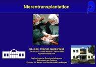 Nierentransplantation Dr. med. Thomas Quaschning - Arztforum Freiburg