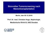 Sinnvolles Tumorscreening nach Nierentransplantation