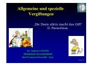 Vortrag Intoxikation Lueger - FH Pinkafeld