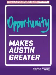 Brochure - United Way for Greater Austin