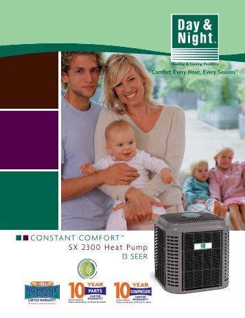 Mainline 13 SEER HP R-410A Color Brochure - Day & Night