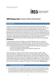 IREG-Ranking Audit Ranking Audit - International Observatory on ...