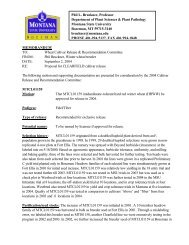 Winter Wheat MTCL01159 - Department of Plant Sciences & Plant ...