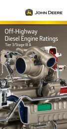 Off-Highway Diesel Engine Ratings - John Deere