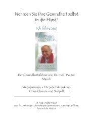 Der Gesundheitsführer von Dr. med. Walter Mauch
