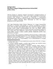 Mozaikok a magyar Külügyminisztérium történetéből 471 ... - Grotius