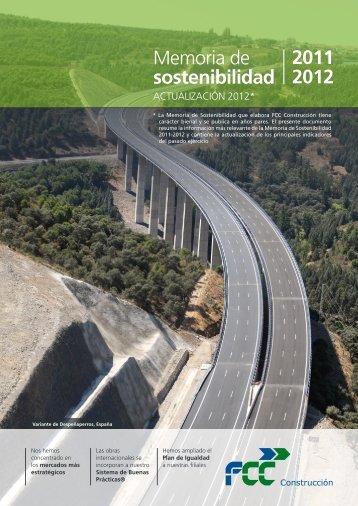 2011 2012 Memoria de sostenibilidad - FCC Construcción