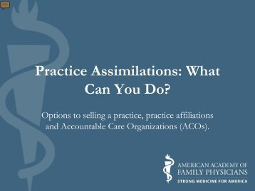 Practice Assimilations: What Can You Do? - IAFP!