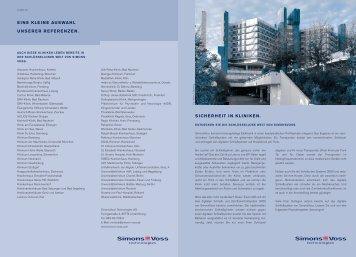 "Simons Voss Lösungsbroschüre ""Gesundheitswesen"" (2,6 MB)"