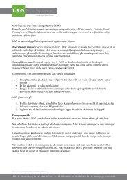 Aktivitetsbaseret omkostningsstyring (ABC) Formålet med ... - Kvæg
