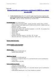 Návrh na firemní benefity pro společnost CYRRUS, a