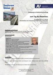 zum Tag des Mauerbaus - Senioren-Union NRW