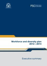 Workforce and diversity plan 2012—2014 Executive summary