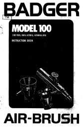 Model 100 side feed - Badger Airbrush