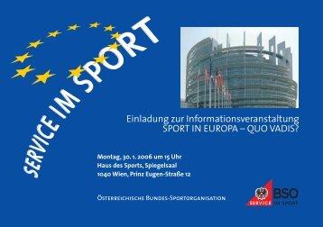 Sport in Europa - Quo Vadis - EU Art Network