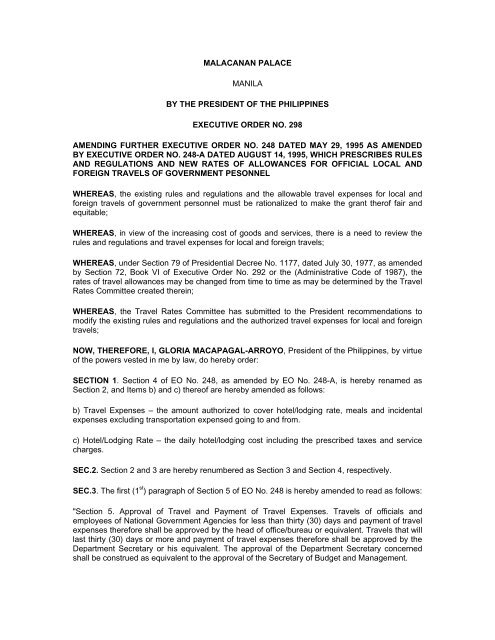 Executive Order No 298 Gppb