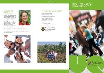 Read the Sociology information brochure - School of Social Science