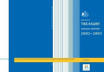 TREASURY TREASURY - Treasury - ACT Government
