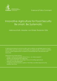 Innovative Agriculture for Food Security Be smart, Be Systematic