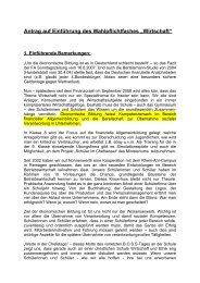 """Antrag auf Einführung des Wahlpflichtfaches """"Wirtschaft"""""""