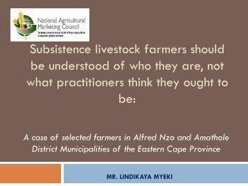Subsistance livestock farmers - NAMC