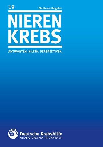 Nieren- krebs - Deutsche Krebshilfe eV
