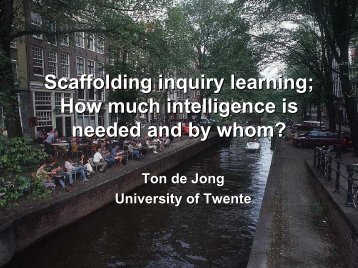 Scaffolding Inquiry Learning
