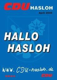 Ausgabe April 2006 - CDU OV Hasloh