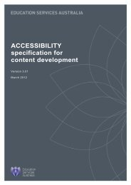 Accessibility specification for content development (PDF, 609 KB)