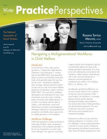 Navigating a Multigenerational Workforce in Child Welfare - National ...