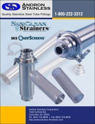 Quality Stainless Steel Tube Fittings - Andron Stainless