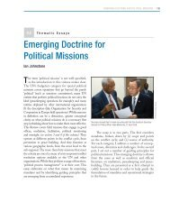 Emerging Doctrine for Political Missions - Center on International ...