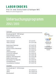 Untersuchungsprogramm - Labor Enders & Partner
