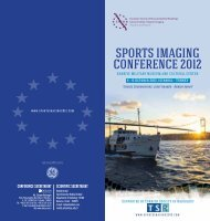 SPORTS IMAGING CONFERENCE 2012