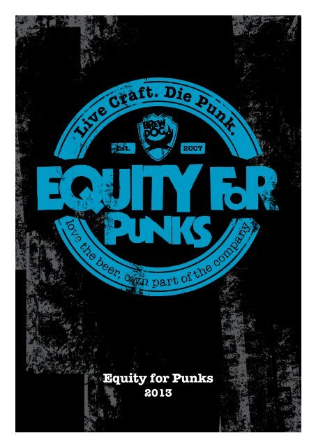 Equity For Punks Brewdog