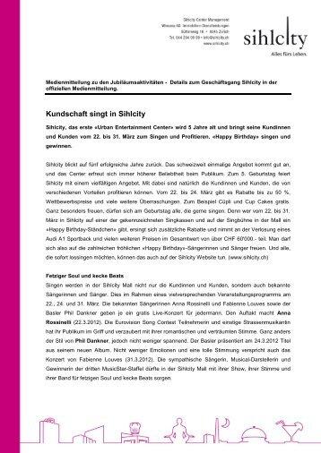 Medienmitteilung März 2012 - Sihlcity