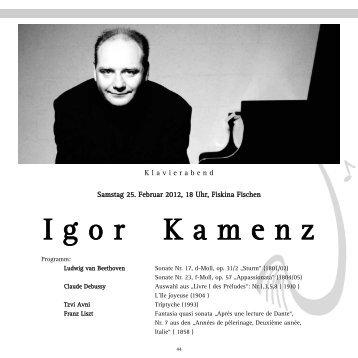 I g o r    K a m e n z - Gesellschaft Freunde der Musik
