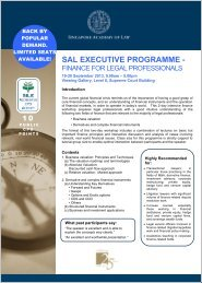 Finance for Legal Prof 19-20 Sep 2013 - Singapore Academy of Law