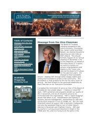 e-News October and November 2011 - Historic Savannah Foundation