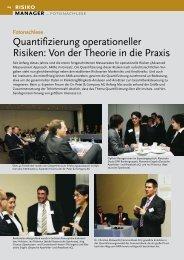 Quantifizierung operationeller Risiken: Von der Theorie in die Praxis